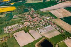 Letecké snímky obce Mšecké Žehrovice a Lodenice